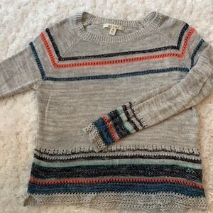 Multi color striped long sleeve